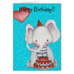Birthday Boy Elephant Greeting Card