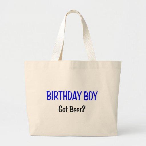 Birthday Boy Got Beer Blue Canvas Bags