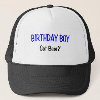 Birthday Boy Got Beer Blue Trucker Hat