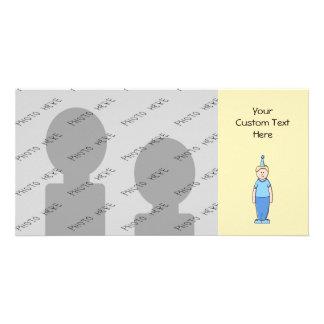 Birthday Boy in Blue Photo Card