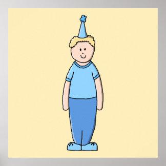 Birthday Boy in Blue. Poster
