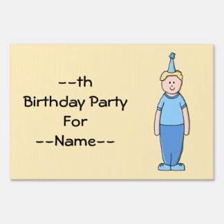 Birthday Boy in Blue. Lawn Sign