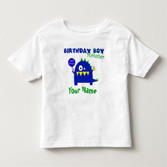 Birthday Boy Monster Toddler T-shirt