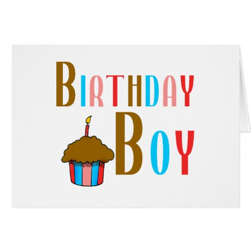 Birthday Boy Multicolored Products Card