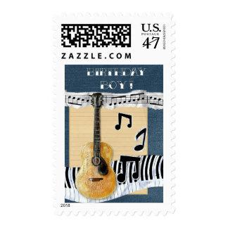 Birthday Boy Musical Guitar Stamp