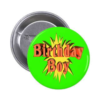 Birthday Boy Party Button