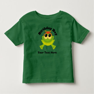 Birthday Boy Personalized Frog Toddler T-shirt