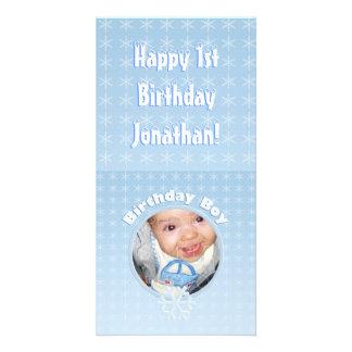 Birthday Boy Photo Winter Onederland Card