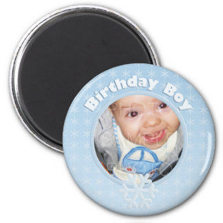 Birthday Boy Photo Winter Onederland Magnet