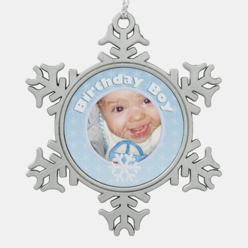 Birthday Boy Photo Winter Onederland Ornaments