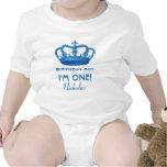 Birthday Boy Royal Prince Crown One Year Old V07 Baby Creeper