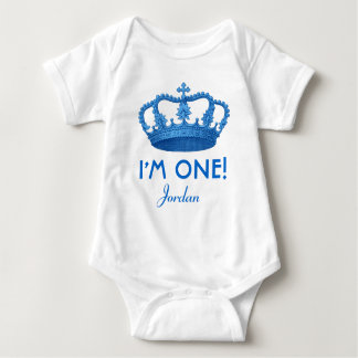 Birthday Boy Royal Prince Crown One Year Old V07A T Shirts