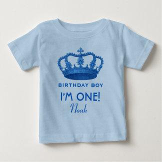 Birthday Boy Royal Prince Crown One Year Old V07N Tee Shirts