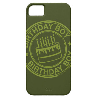 Birthday Boy -rubber stamp effect- green iPhone SE/5/5s Case