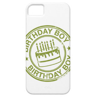 Birthday Boy -rubber stamp effect- green iPhone SE/5/5s Case