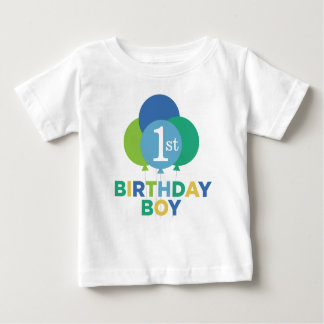 Birthday Boy Shirt | Blue Green Balloons