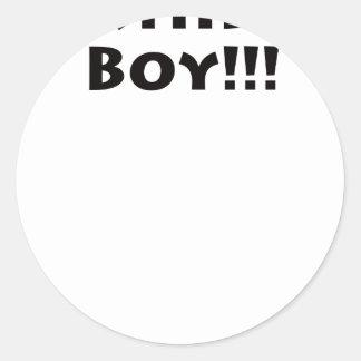 Birthday Boy Round Sticker