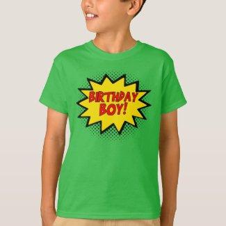 BIRTHDAY BOY Superhero Logo Gift T-Shirt