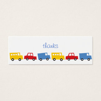 Birthday Boy Toys Colorful Cars Trains Bus Trucks Mini Business Card