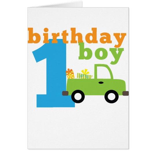 Birthday Boy Truck 1 Card