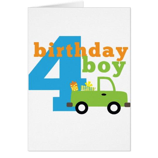 Birthday Boy Truck 4 Card