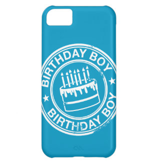 Birthday Boy -white rubber stamp effect- Cover For iPhone 5C