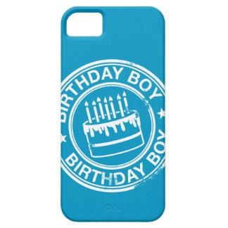 Birthday Boy -white rubber stamp effect- iPhone SE/5/5s Case