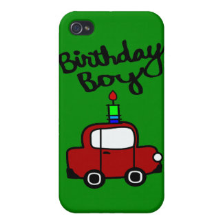 Birthday Boy With Candle And Red Car iPhone 4/4S Cover