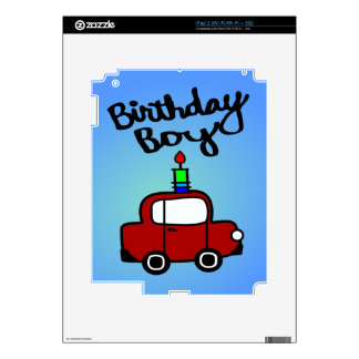 Birthday Boy With Candle And Red Car Decal For The iPad 2