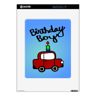 Birthday Boy With Candle And Red Car Decal For The iPad