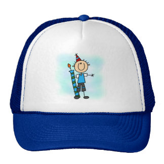 Birthday Boy With Candle T-shirts and Gifts Trucker Hat