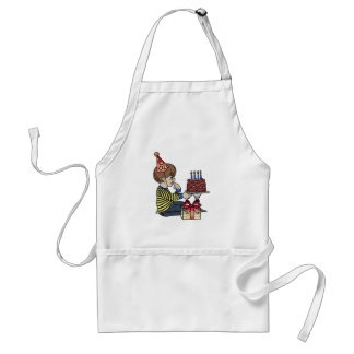 Birthday Boy with Chocolate Cake Adult Apron