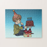 Birthday Boy with Chocolate Cake Puzzles
