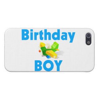 Birthday Boy With Toy Airplane iPhone SE/5/5s Cover