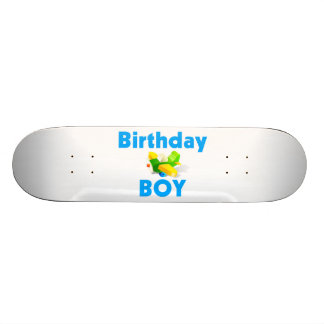 Birthday Boy With Toy Airplane Skateboard Deck