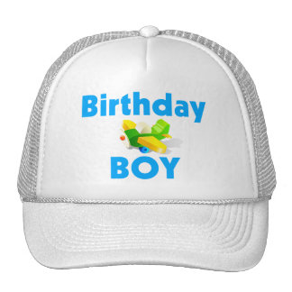 Birthday Boy With Toy Airplane Trucker Hat