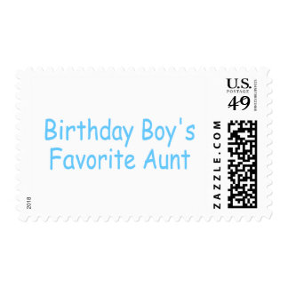 Birthday Boy's Favorite Aunt Postage Stamps