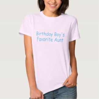 Birthday Boy's Favorite Aunt T-shirt