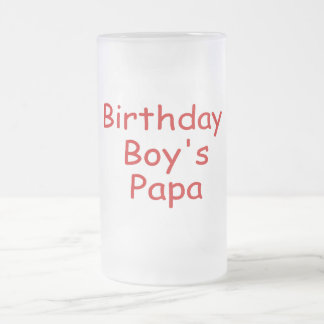 Birthday Boy's Papa Frosted Glass Beer Mug