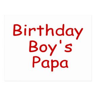 Birthday Boy's Papa Postcard