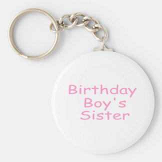Birthday Boy's Sister Keychain