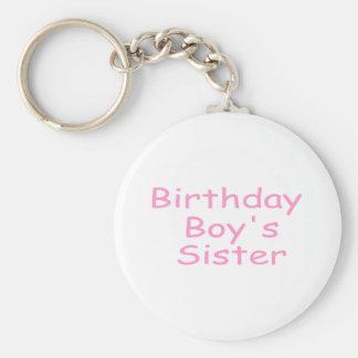 Birthday Boy's Sister Keychain