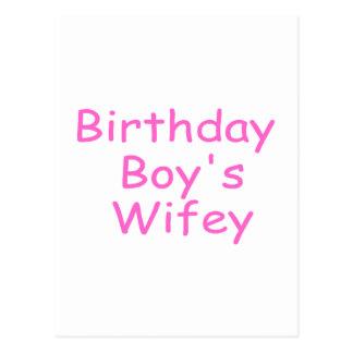 Birthday Boy's Wifey Postcard