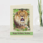 """Birthday, Brother, Lion Card<br><div class=""""desc"""">Few animals can match the beauty and majesty of a lion.  He makes a fantastic birthday greeting card.</div>"""