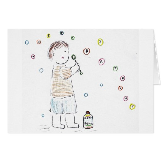 Birthday Bubbles Greeting Card