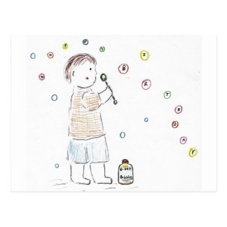 Birthday Bubbles Postcard