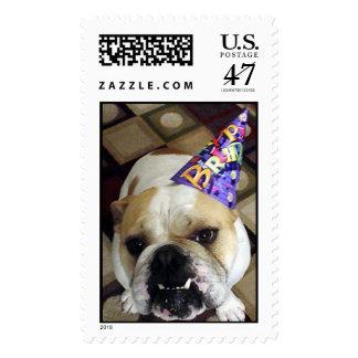 Birthday Bulldog Postage