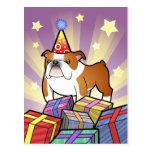 Birthday Bulldog Postcards