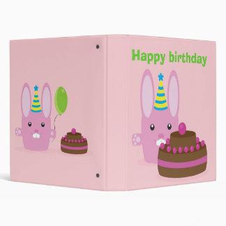 Birthday bunny binder