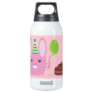 Birthday bunny insulated water bottle